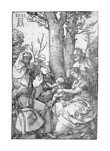 2055010: ALBRECHT DÜRER The Holy Family with Joachim an