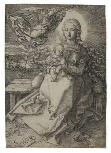2055013: ALBRECHT DÜRER The Virgin and Child Crowned by