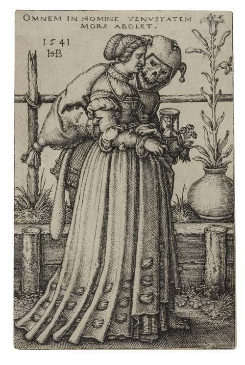2055018: HANS SEBALD BEHAM The Lady and Death.