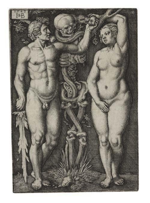 2055019: HANS SEBALD BEHAM Adam and Eve.