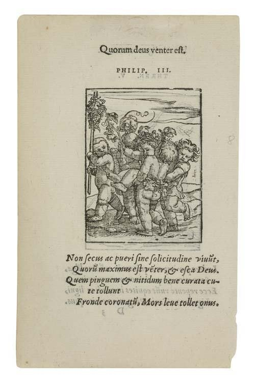 2055171: HANS HOLBEIN THE YOUNGER (after) Three woodcut