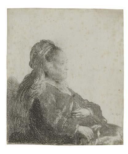 2055192: REMBRANDT VAN RIJN The Artist's Mother Seated,