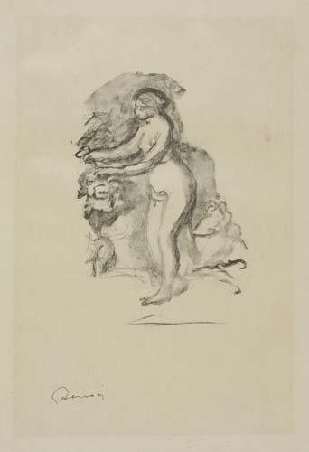 2055378: PIERRE-AUGUSTE RENOIR Femme au cep de Vigne.