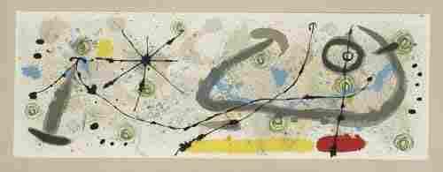 2055663: JOAN MIR� Le L�zard aux Plumes d'Or.