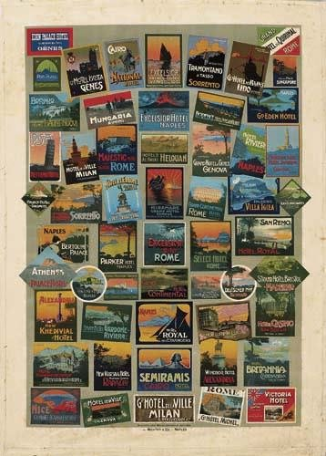 2056001: Poster. VARIOUS ARTISTS [ITALIAN TRAVEL LABELS