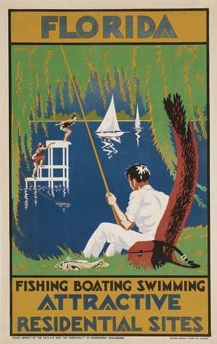 2056003: Poster. OGILVIE FLORIDA. Circa 1935. 40x25 inc