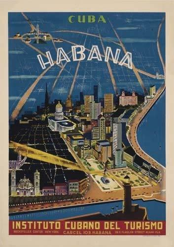 2056005: Poster. ANONYMOUS CUBA / HABANA. Circa 1950. 3