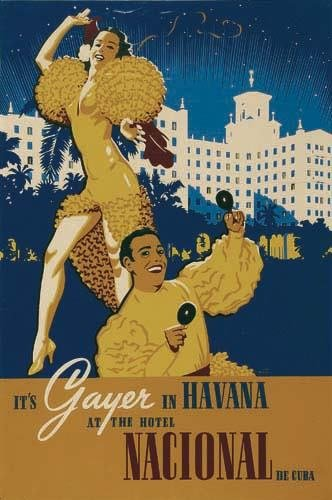 2056006: Poster. VICTOR BEALS IT'S GAYER IN HAVANA / AT