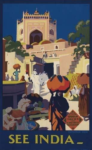 2056009: Poster. LEONARD CUSDEN SEE INDIA. Circa 1930.