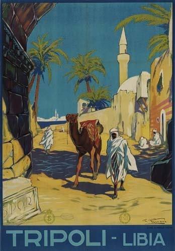 2056013: Poster. GIULIO FERRARI TRIPOLI - LIBIA. 1936.