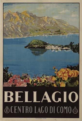 2056014: Poster. LIVIO APOLLONI BELLAGIO. Circa 1925. 3