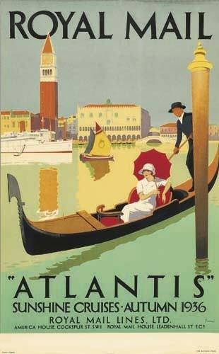 "2056021: Poster. PADDEN ROYAL MAIL / ""ATLANTIS."" 1936."