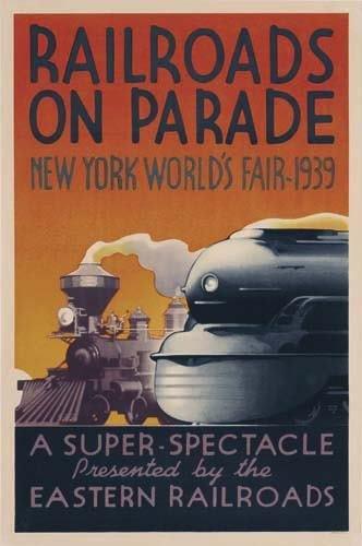 2056023: Poster. LESLIE RAGAN RAILROADS ON PARADE / NEW