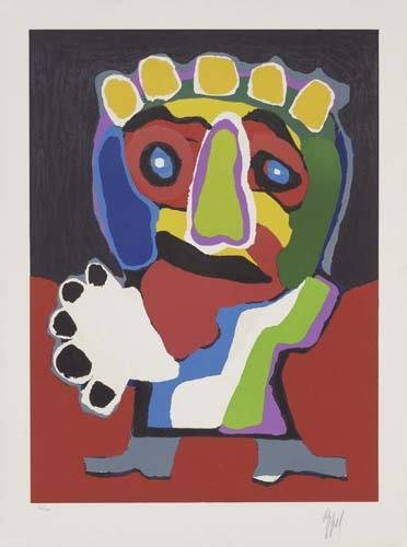 2057014: KAREL APPEL Two color lithographs.