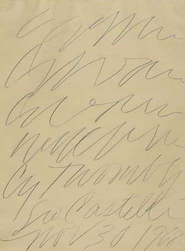 2057300: cy twombly leo castelli gallery poster.