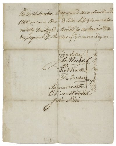 2058003: (AMERICAN REVOLUTION.) HANCOCK, JOHN. Document