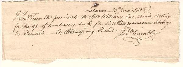 2058009: (AMERICAN REVOLUTION.) TRUMBULL, JONATHAN. Aut