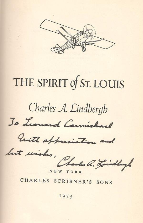 2058021: (AVIATION.) LINDBERGH, CHARLES A. The Spirit o