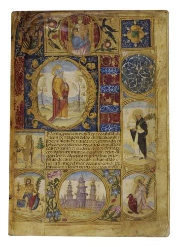 2059177: LAW  REAL ESTATE.  Illuminated manuscript docu