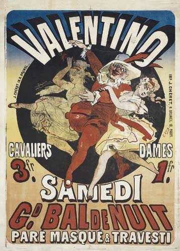 2062001: Poster, JULES CHERET (1836-1932). BAL VALENTIN