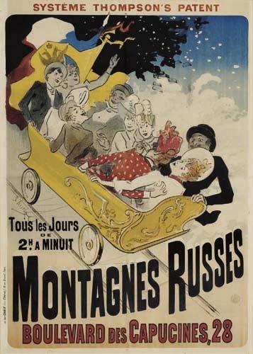 2062004: Poster, JULES CHERET (1836-1932). MONTAGNES RU