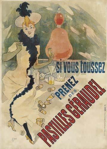 2062005: Poster, JULES CHERET (1836-1932). PASTILLES GE