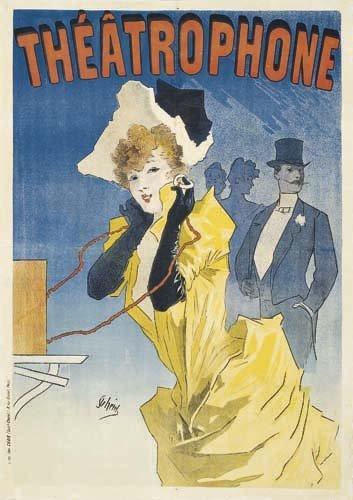 2062007: Poster, JULES CHERET (1836-1932). THEATROPHONE