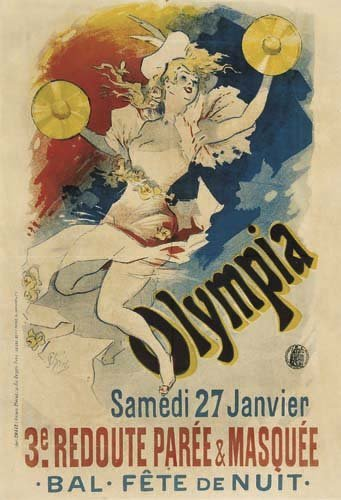 2062009: Poster, JULES CHERET (1836-1932). OLYMPIA. 189
