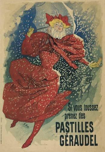 2062015: Poster, JULES CHERET (1836-1932). PASTILLES GE