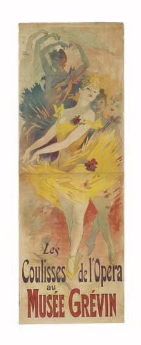 2062017: Poster, JULES CHERET (1836-1932). LES COULISSE