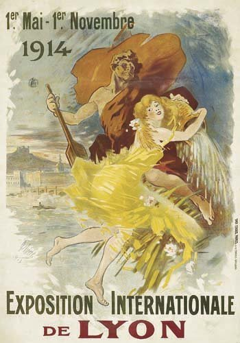 2062018: Poster, JULES CHERET (1836-1932). EXPOSTION IN