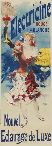 2062019: Poster, LUCIEN LEFEVRE (1850-?). ELECTRICINE R