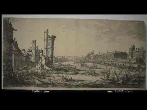 2063003: JACQUES CALLOT Vue du Louvre.