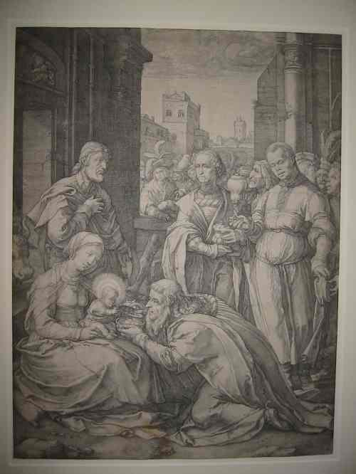 2063006: HENDRICK GOLTZIUS The Adoration of the Magi.