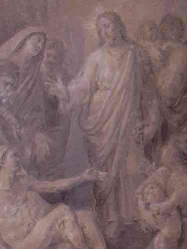 2063013: ITALIAN SCHOOL Christ with Attendants Healing