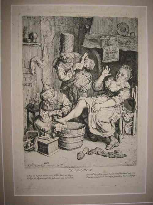 2063022: OLD MASTER PRINTS Group of 5 etchings and engr