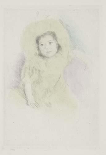 2063042: MARY CASSATT Margot Wearing a Bonnet (No. 1).