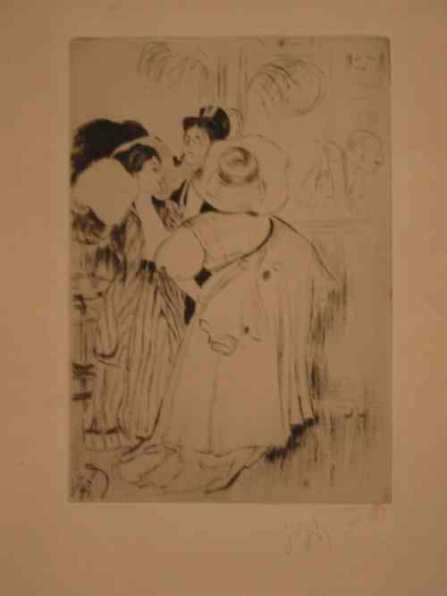 2063068: LOUIS LEGRAND Group of 4 etchings with drypoin