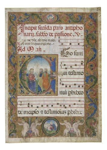 2064014: ITALIAN SCHOOL, LATE 15TH-CENTURY Antiphonal L