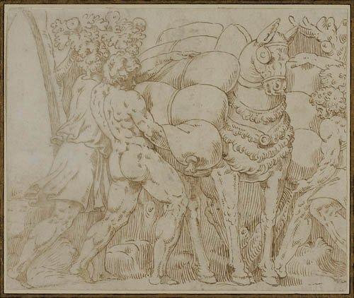 2064015: ITALIAN SCHOOL, EARLY 16TH-CENTURY Men Loading