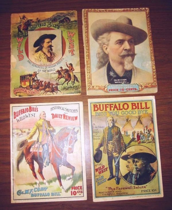 2065023: (BUFFALO BILL.) Group of 4 programs from his s