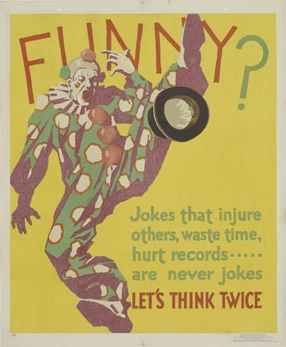 2066001: Poster. ANONYMOUS. FUNNY? 1929. 43x36 inches.