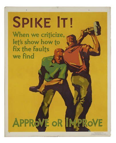 2066004: Poster. ANONYMOUS. SPIKE IT. 1929. 43x36 inche
