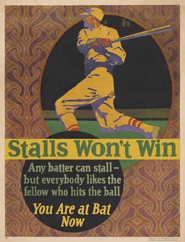 2066007: Poster. ANONYMOUS. STALLS WON'T WIN. 1927. 46x
