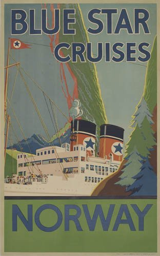 2066015: Poster. ANONYMOUS. BLUE STAR CRUISES NORWAY. 4