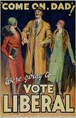 2066017: Poster. ANONYMOUS. 'COME ON DAD'...VOTE LIBERA