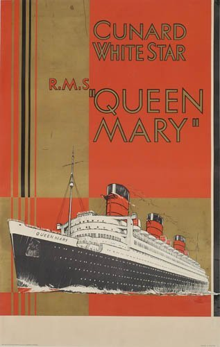 2066021: Poster. ANONYMOUS. CUNARD WHITE STAR / QUEEN M