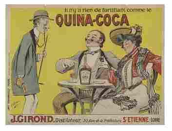 2066077: Poster. LOUIS ADOLPHE D'AUVERGNE. QUINA-COCA.