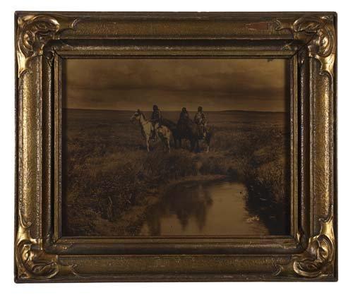 "2067014: CURTIS, EDWARD S. (1868-1952) ""Three Chiefs."""
