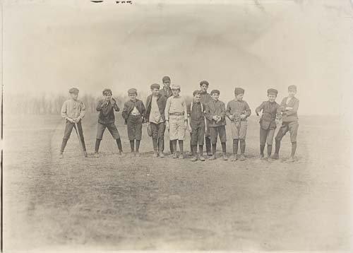"2067020: HINE, LEWIS W. (1874-1940) ""One of the ball-te"